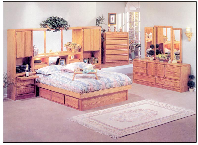 oak waterbed furniture free shipping