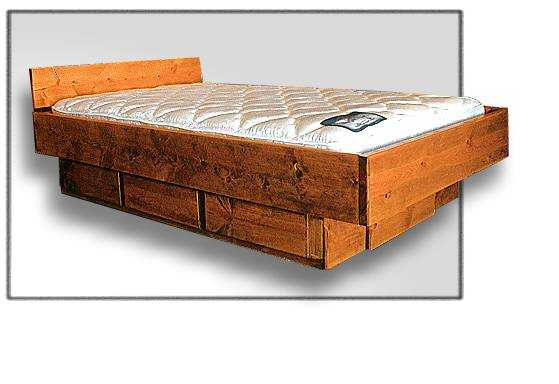 Hardside Waterbed Padded Vinyl Frame Free Shipping