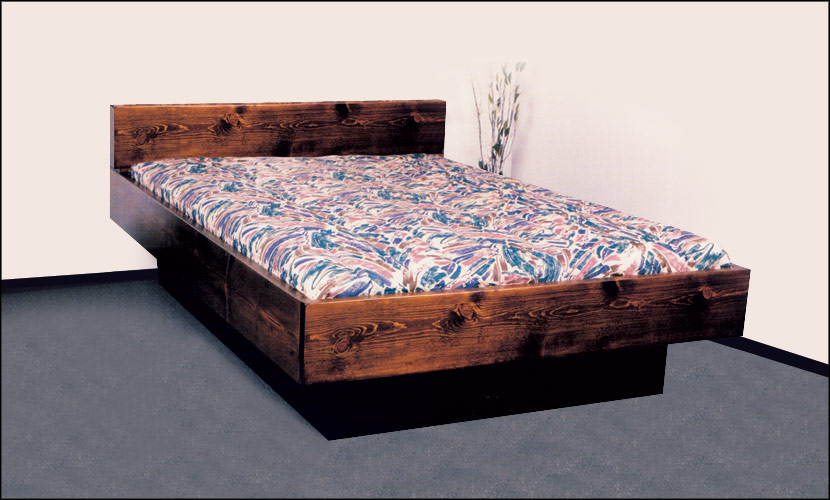 5 Board Solid Wood Hardside Waterbed Free Shipping