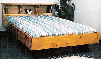 bookcase waterbed without drawers